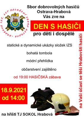 Den s hasiči v sobotu 18.9.2021