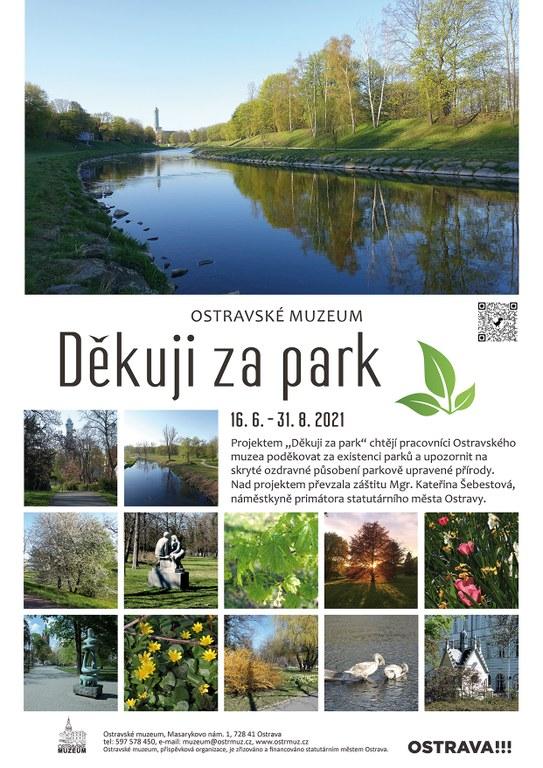 Pozvánka na výstavu Děkuji za park