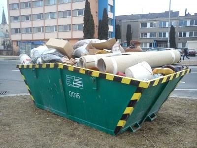 Umístění kontejnerů na velkoobjemový odpad